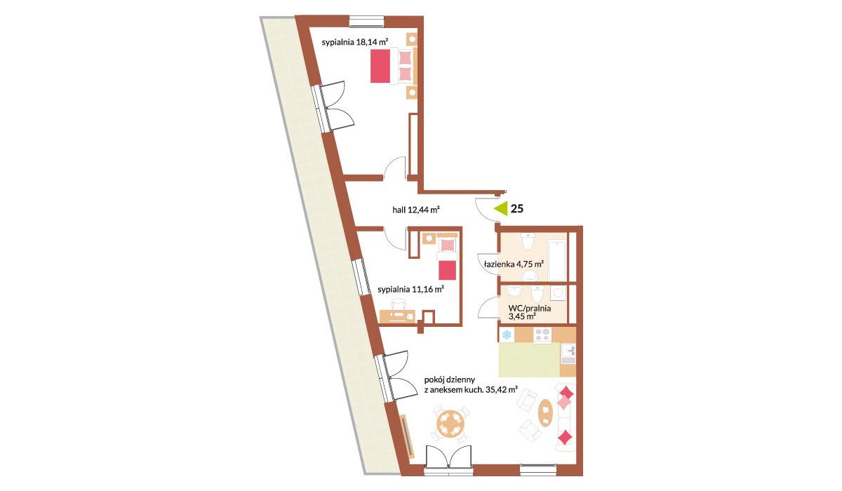 Mieszkanie w inwestycji Fabryka Czekolady, Kraków, 86 m² | Morizon.pl | 7237