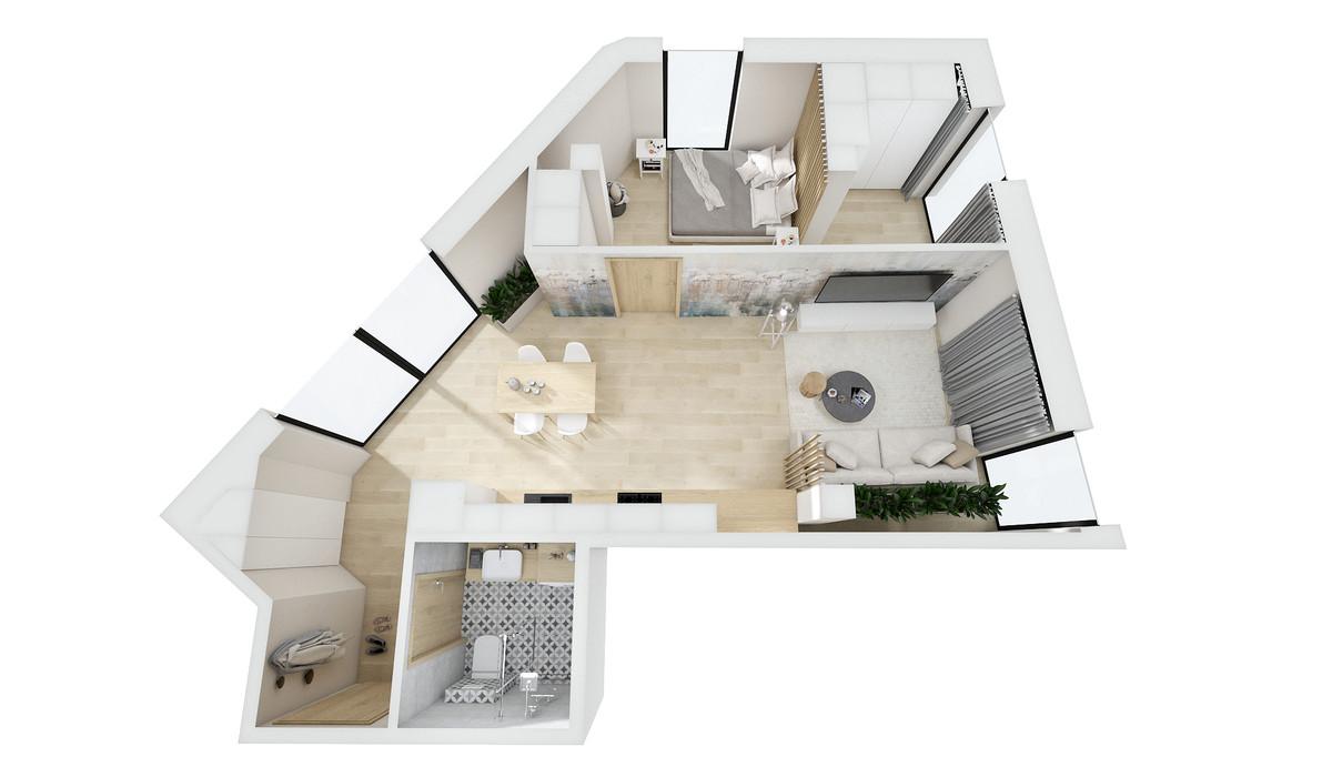 Mieszkanie w inwestycji Barlickiego 7, Bielsko-Biała, 47 m²   Morizon.pl   0101