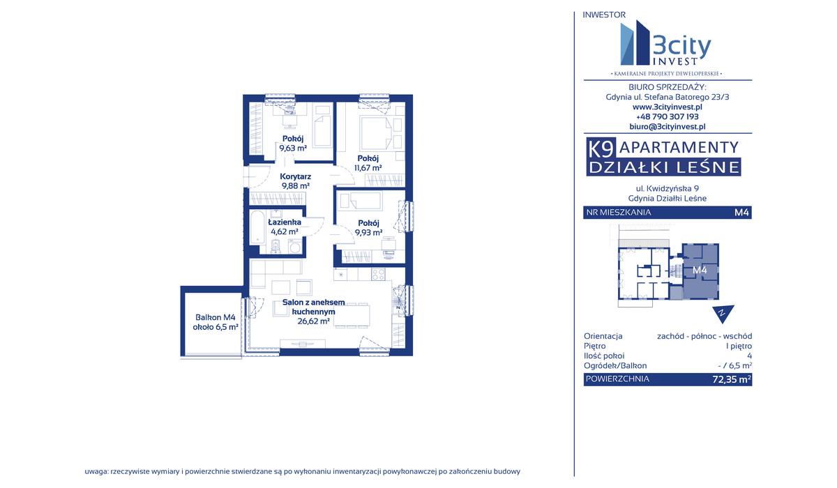 Mieszkanie w inwestycji K9 Apartamenty Działki Leśne, Gdynia, 72 m² | Morizon.pl | 3858