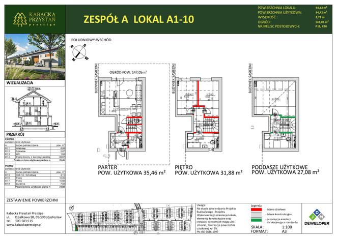 Dom w inwestycji Kabacka Przystań Prestige, Józefosław, 94 m² | Morizon.pl | 5454