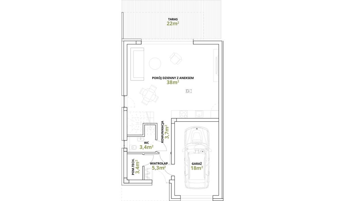 Dom w inwestycji Osiedle Magnice Etap II, Magnice, 149 m²   Morizon.pl   5353