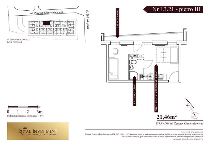 Mieszkanie w inwestycji ROYAL STUDIOS SMART APARTAMENTS, Kraków, 21 m² | Morizon.pl | 5591