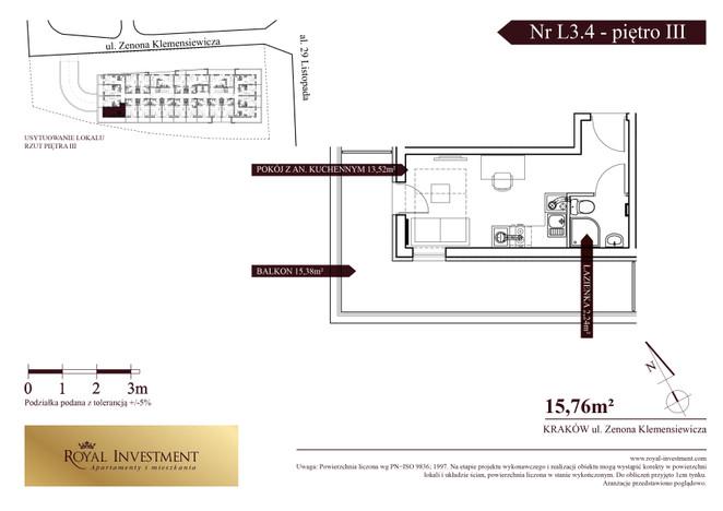 Mieszkanie w inwestycji ROYAL STUDIOS SMART APARTAMENTS, Kraków, 16 m²   Morizon.pl   5595