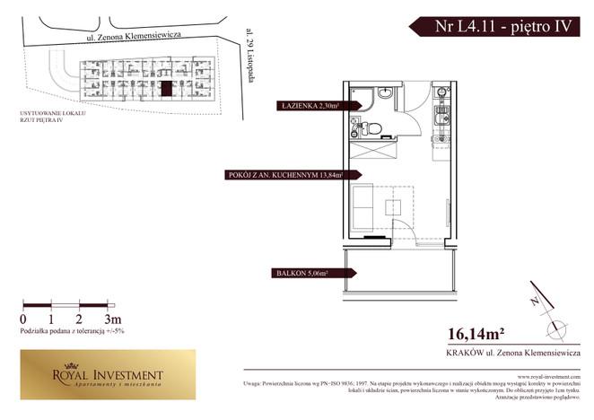 Mieszkanie w inwestycji ROYAL STUDIOS SMART APARTAMENTS, Kraków, 16 m²   Morizon.pl   5503