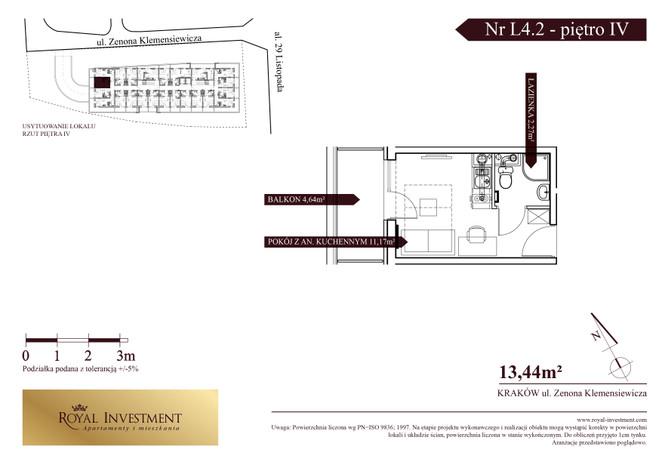 Mieszkanie w inwestycji ROYAL STUDIOS SMART APARTAMENTS, Kraków, 13 m² | Morizon.pl | 5612