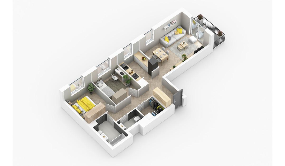 Mieszkanie w inwestycji Golden Space, Warszawa, 68 m² | Morizon.pl | 5778