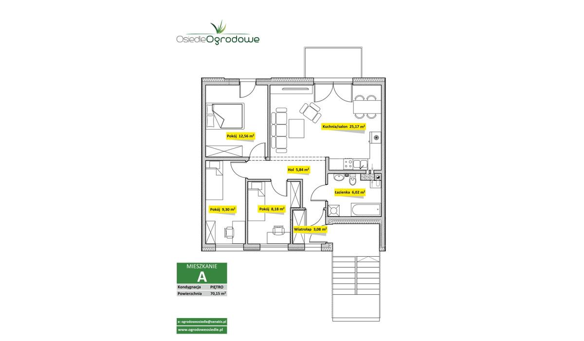 Mieszkanie w inwestycji Osiedle Ogrodowe - Świętochłowice, Świętochłowice, 70 m²   Morizon.pl   7531