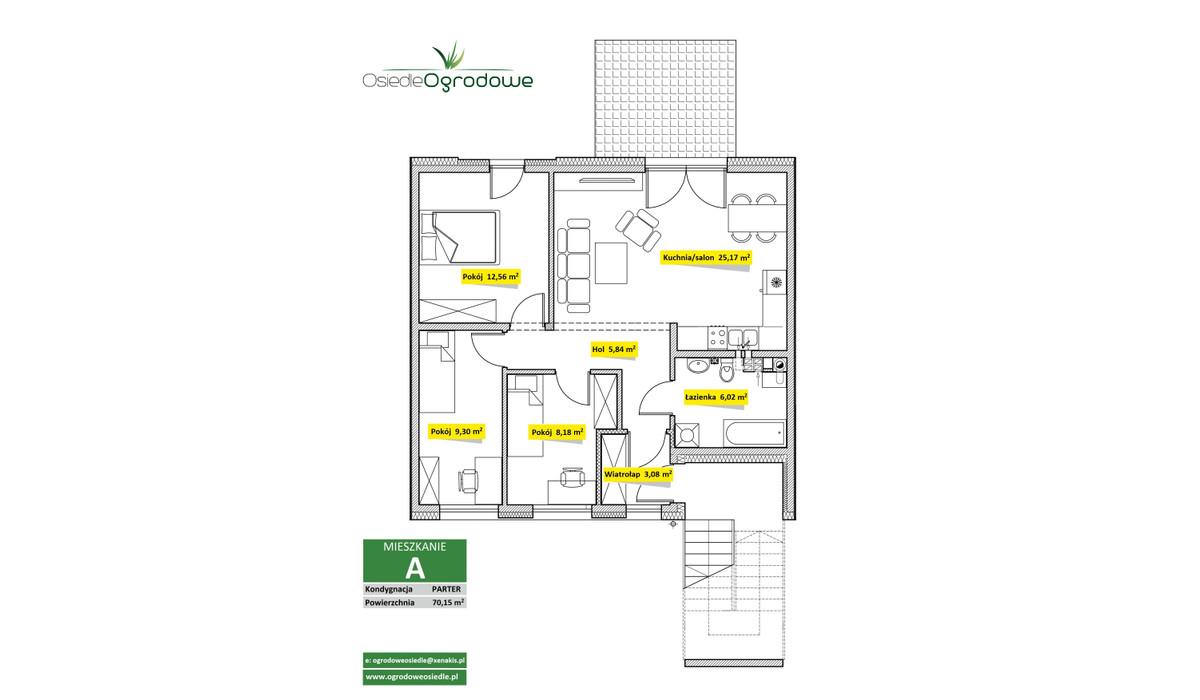 Mieszkanie w inwestycji Osiedle Ogrodowe - Świętochłowice, Świętochłowice, 70 m²   Morizon.pl   7534
