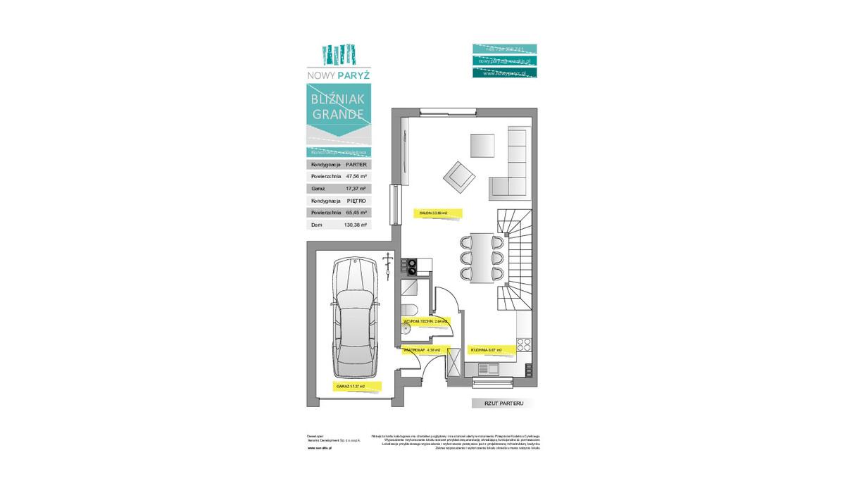 Dom w inwestycji Nowy Paryż - Ruda Śląska, Ruda Śląska, 130 m² | Morizon.pl | 2069