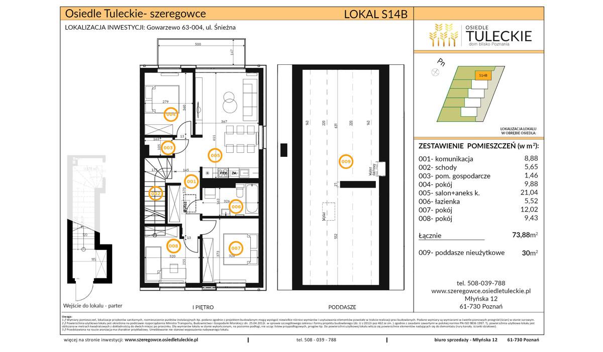 Dom w inwestycji OSIEDLE TULECKIE, Gowarzewo, 74 m² | Morizon.pl | 6909