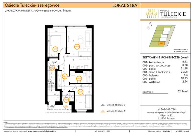 Dom w inwestycji OSIEDLE TULECKIE, Gowarzewo, 63 m² | Morizon.pl | 6914