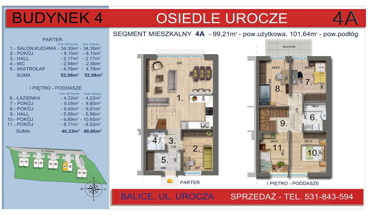 Dom w inwestycji Osiedle Urocze, Balice, 99 m² | Morizon.pl | 3468