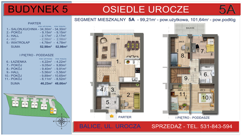 Dom w inwestycji Osiedle Urocze, Balice, 99 m²   Morizon.pl   3470