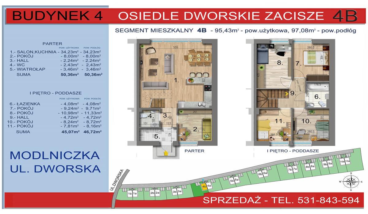 Dom w inwestycji Osiedle Dworskie Zacisze, Modlniczka, 95 m² | Morizon.pl | 3749