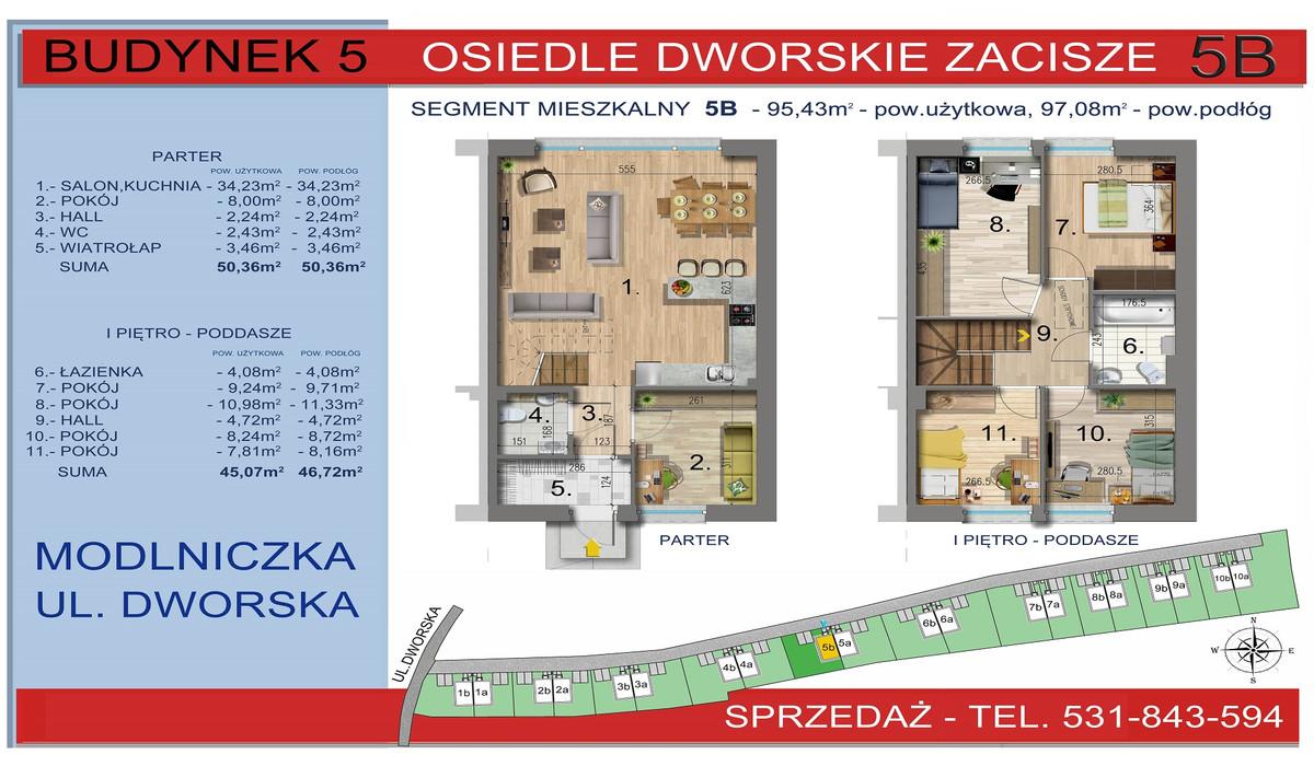 Dom w inwestycji Osiedle Dworskie Zacisze, Modlniczka, 95 m² | Morizon.pl | 3751