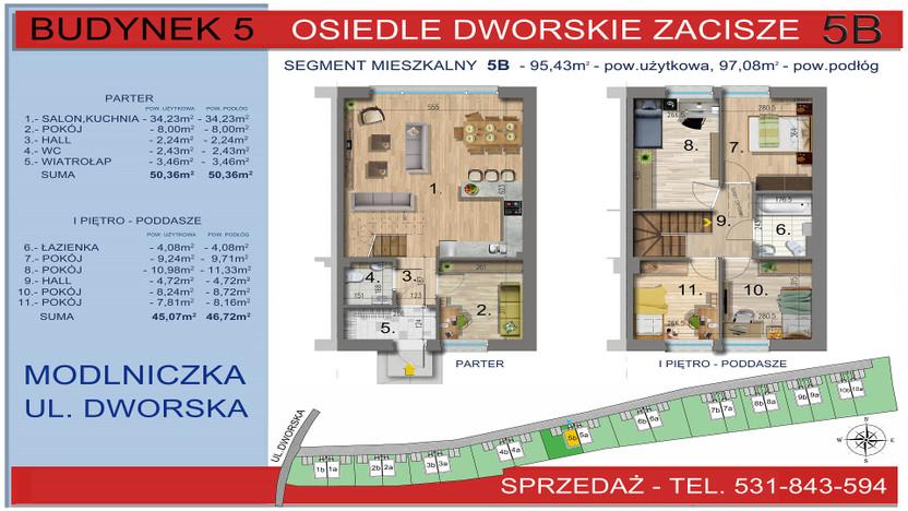 Dom w inwestycji Osiedle Dworskie Zacisze, Modlniczka, 95 m²   Morizon.pl   3751