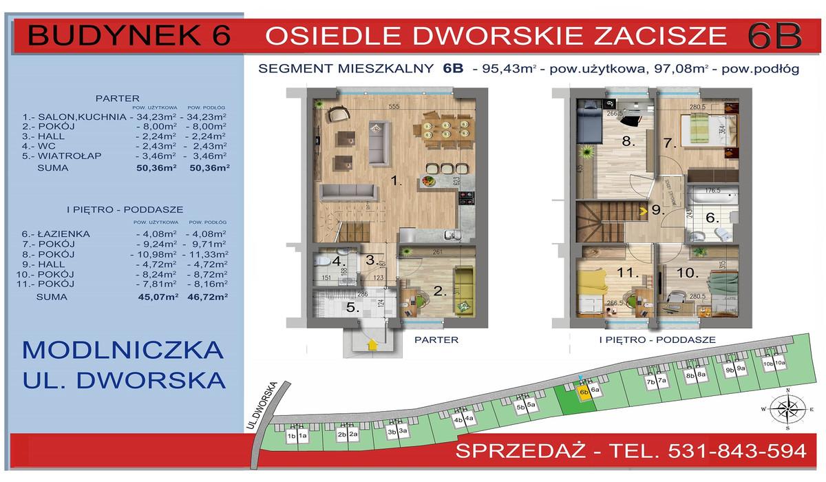 Dom w inwestycji Osiedle Dworskie Zacisze, Modlniczka, 95 m² | Morizon.pl | 3753