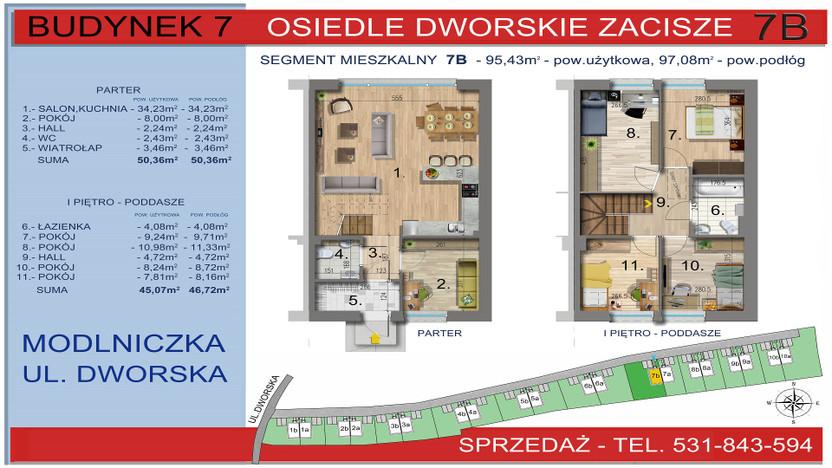 Dom w inwestycji Osiedle Dworskie Zacisze, Modlniczka, 95 m² | Morizon.pl | 3755