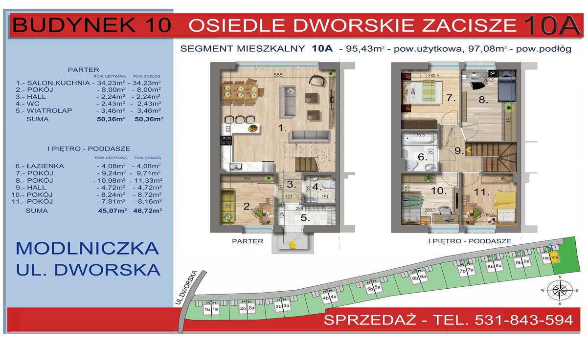Dom w inwestycji Osiedle Dworskie Zacisze, Modlniczka, 95 m² | Morizon.pl | 3760