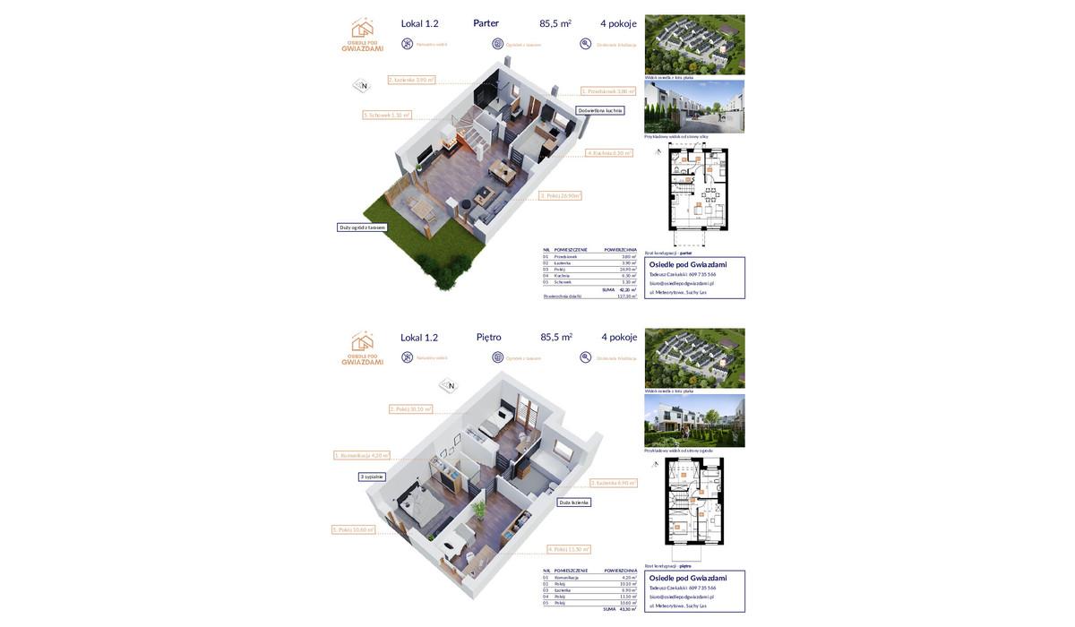 Dom w inwestycji Osiedle Pod Gwiazdami, Suchy Las, 86 m² | Morizon.pl | 1070