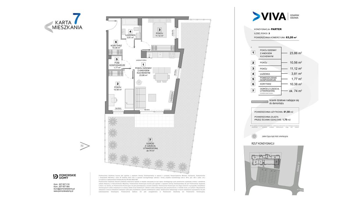 Mieszkanie w inwestycji VIVA, Gdańsk, 63 m² | Morizon.pl | 6880