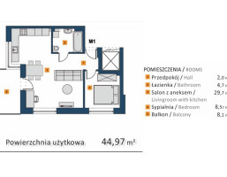 Morizon WP ogłoszenia | Mieszkanie na sprzedaż, Kraków Wola Justowska, 45 m² | 7807