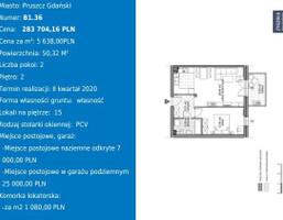 Morizon WP ogłoszenia | Mieszkanie na sprzedaż, Pruszcz Gdański Obrońców Pokoju, 50 m² | 0480