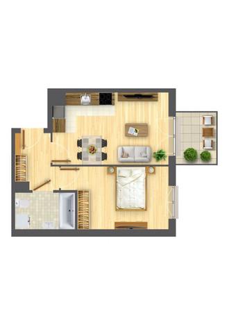Morizon WP ogłoszenia | Mieszkanie w inwestycji Nowa Myśliwska, Kraków, 39 m² | 5691