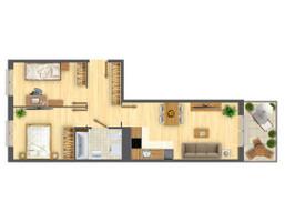 Morizon WP ogłoszenia | Mieszkanie w inwestycji Nowa Myśliwska, Kraków, 53 m² | 5608