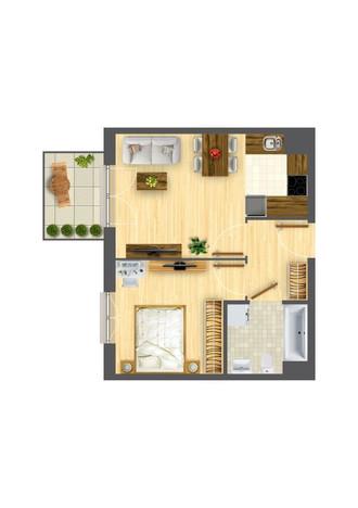 Morizon WP ogłoszenia | Mieszkanie w inwestycji Nowa Myśliwska, Kraków, 38 m² | 5697