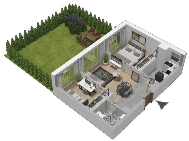 Morizon WP ogłoszenia | Mieszkanie w inwestycji KW51, Kraków, 47 m² | 1281
