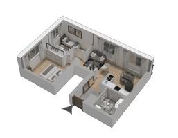 Morizon WP ogłoszenia | Mieszkanie w inwestycji KW51, Kraków, 44 m² | 1213