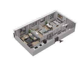 Morizon WP ogłoszenia | Mieszkanie w inwestycji KW51, Kraków, 60 m² | 1225