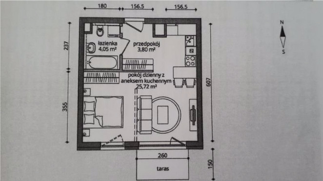 Morizon WP ogłoszenia | Kawalerka na sprzedaż, Gdańsk Śródmieście, 34 m² | 1411