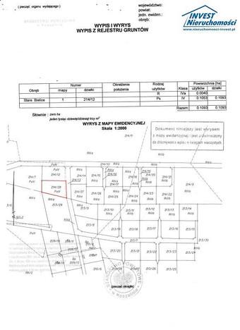 Morizon WP ogłoszenia | Działka na sprzedaż, Stare Bielice, 1118 m² | 1255