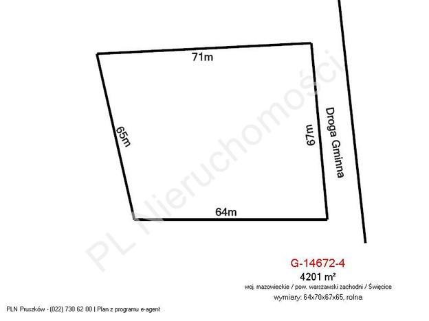 Morizon WP ogłoszenia | Działka na sprzedaż, Święcice, 4201 m² | 1189