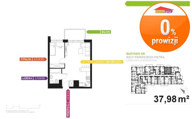 Morizon WP ogłoszenia   Mieszkanie na sprzedaż, Gliwice, 37 m²   9281