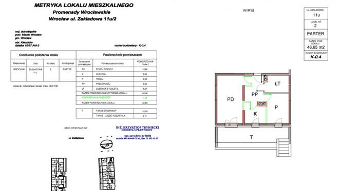 Morizon WP ogłoszenia | Mieszkanie na sprzedaż, Wrocław Psie Pole, 47 m² | 8450