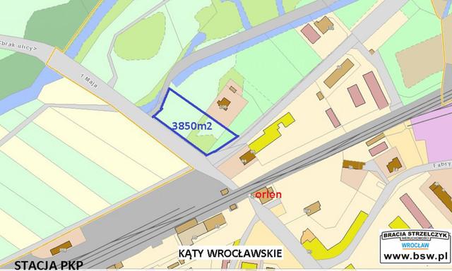 Działka na sprzedaż <span>Wrocławski (pow.), Kąty Wrocławskie (gm.), Kąty Wrocławskie, 1 Maja</span>