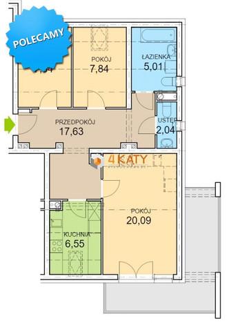 Morizon WP ogłoszenia | Mieszkanie na sprzedaż, Zielona Góra Łężyca, 74 m² | 1472