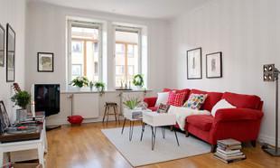 Wiosenna aranżacja 60-metrowego szwedzkiego mieszkania