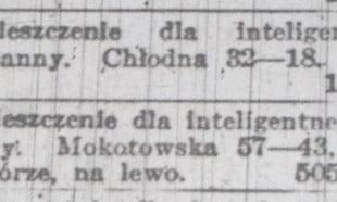 """""""Jakiegokolwiek pokoju poszukuję"""", czyli ogłoszenia nieruchomości sprzed 100 lat"""